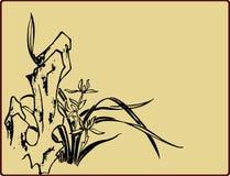 Традиционная художническая картина цветка Стоковые Фотографии RF