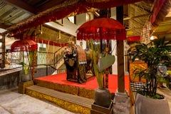 Традиционное балийское украшение интерьера стоковые фотографии rf