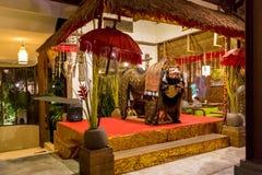 Традиционное балийское украшение интерьера стоковые изображения