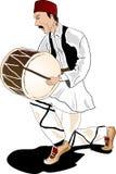 традиционное барабанщика македонское Стоковая Фотография