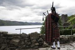 традиционное волынщика мешка шотландское Стоковые Изображения RF