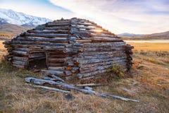 Традиционное вызванное здание Altai Стоковое фото RF