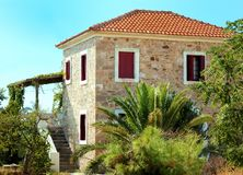 традиционное греческой дома старое Стоковые Фото