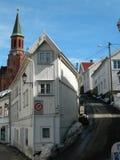 традиционное дома норвежское Стоковые Фотографии RF