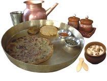 традиционное еды индийское Стоковая Фотография