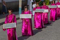 Традиционное религиозное шествие Senhora da Abadia стоковое фото