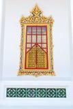 Традиционное тайское окно церков типа Стоковая Фотография