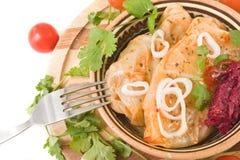 традиционное тарелки русское Стоковое Изображение