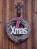 Традиционное украшение дома рождества Стоковые Изображения