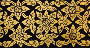 традиционное флористической картины искусства тайское Стоковое фото RF
