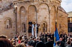 Традиционное шествие святой недели в Zamora, Испании стоковая фотография
