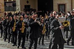 Традиционное шествие святой недели в Zamora, Испании стоковое изображение