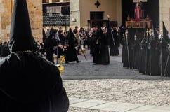 Традиционное шествие святой недели в Zamora, Испании стоковая фотография rf