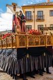 Традиционное шествие святой недели в Zamora, Испании стоковое фото