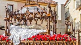 Традиционное шествие святой недели в Zamora, Испании стоковые изображения