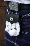 Традиционное шотландское обмундирование Стоковое Изображение RF