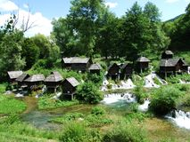 Традиционно небольшие мельницы стоковое изображение rf