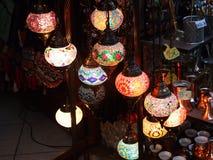 Традиционные арабские лампы стоковое фото