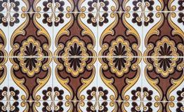 Традиционные богато украшенные португальские декоративные плитки иллюстрация штока