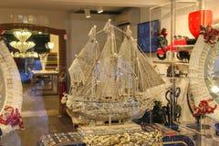 Традиционные венецианские сувениры в галерее подарка Венеции, Италии Стоковое Изображение RF