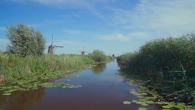 Традиционные ветрянки на Голландии E видеоматериал