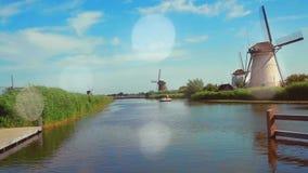 Традиционные ветрянки на Голландии E сток-видео