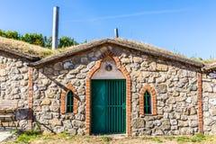 Традиционные винные погреба - Vrbice, чехия Стоковые Изображения