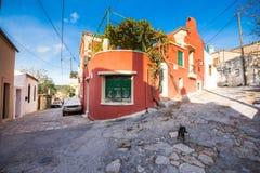 Традиционные дома и старые здания на деревне Archanes, ираклиона, Крита стоковые фото