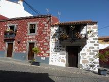 Традиционные дома Canarios Стоковая Фотография RF