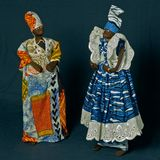 Традиционные западно-африканские куклы Стоковая Фотография RF