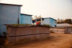 Традиционные здания вокруг района деревни стоковые фото