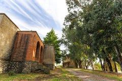 Традиционные камень и кирпичное здание Стоковые Фото