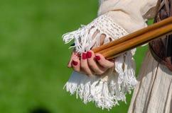 Традиционные конкуренции Традиционное оборудование archery стоковые изображения rf