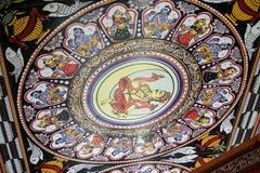 Традиционные крыша Rajasthani индейца и предпосылка стены стоковая фотография