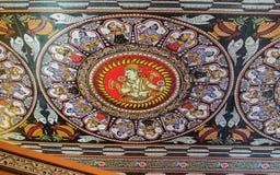 Традиционные крыша Rajasthani индейца и предпосылка стены стоковое фото rf