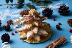 Традиционные печенья дерева пряника рождества Стоковое фото RF