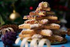 Традиционные печенья дерева пряника рождества Стоковое Изображение RF