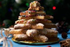 Традиционные печенья дерева пряника рождества Стоковое Фото