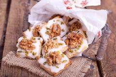 Традиционные печенья рождества Стоковое Фото