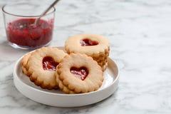 Традиционные печенья Linzer рождества Стоковые Фото
