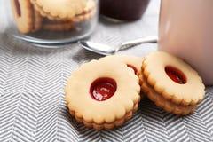 Традиционные печенья Linzer рождества Стоковая Фотография RF