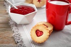 Традиционные печенья Linzer рождества Стоковое Фото