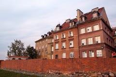 Традиционные польские дома в oldtown Варшава, Польше Стоковые Фото