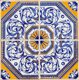 Традиционные португальские azulejos Стоковая Фотография