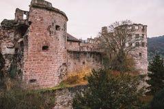 Традиционные руины замка в Германии Стоковая Фотография RF