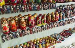 Традиционные русские деревянные куклы matrios Стоковое Изображение RF