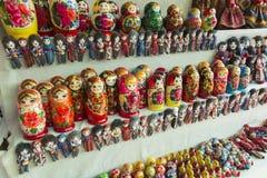 Традиционные русские деревянные куклы matrios Стоковые Фотографии RF