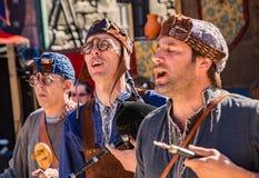 Традиционные средневековые певицы Стоковое Изображение