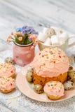 Традиционные торт и пирожные пасхи Стоковое фото RF