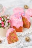 Традиционные торт и пирожные пасхи Стоковая Фотография RF